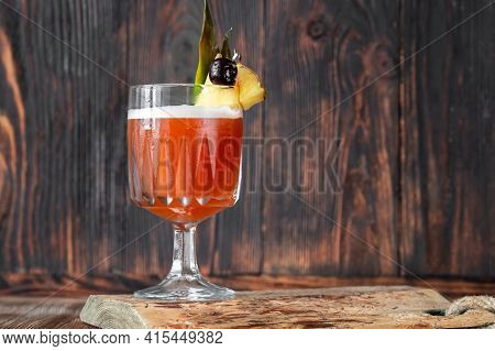 Glass Of Club Cocktail