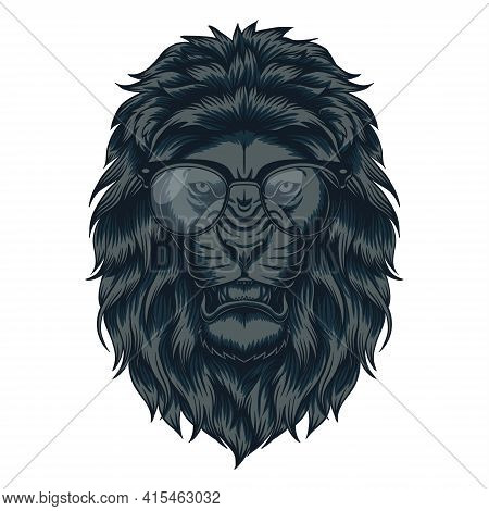 Lion Head Eyeglasses Vector Illustration For Your Company Or Brand