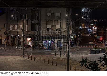 Belgrade, Serbia - October 5, 2020: Selective Blur On Savamala, On Empty Deserted Brace Krsmanovic A