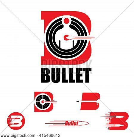 A Collection Of B Letter Based Symbol Bullet And Target Concept Set