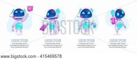 Chat Bot Banners Set. Future Marketing Innovation, Artificial Intelligence Digital Technology, Ai Ro