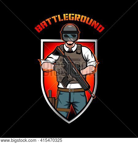 Battleground Insignia Vector Illustration For Esport Team, T-shirt Print, Or Any Other Purpose