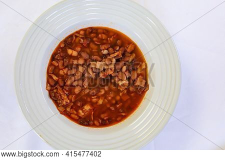 Healthy Food Plate. Meat Platter With Potatoes, Salad And Portobello Mushroom.