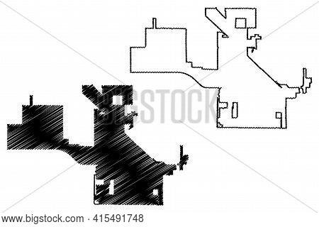 Surprise City, Arizona (united States Cities, United States Of America, Usa City) Map Vector Illustr