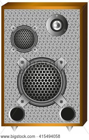 Model Of A Three-way Speaker System, The System Has: Woofer, Mid-range And Tweeter.