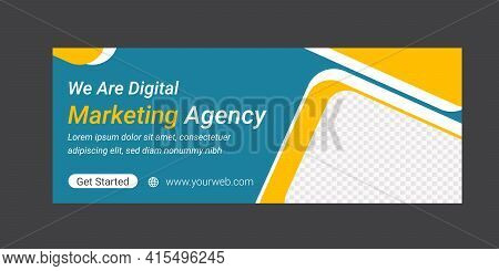 Social Media Banner Or Cover Photo Template Design For Digital Marketing Agency. Special Offer And D