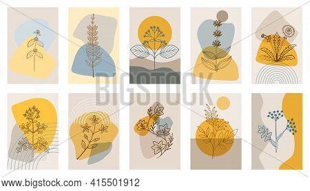 Bitter Herbs P1, Abstract Poster, Set 1 Ww