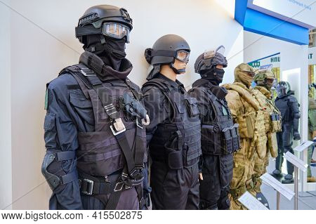 Equipment Of The Military, Police And Force Structure - Moscow, Russia, October 25, 2019