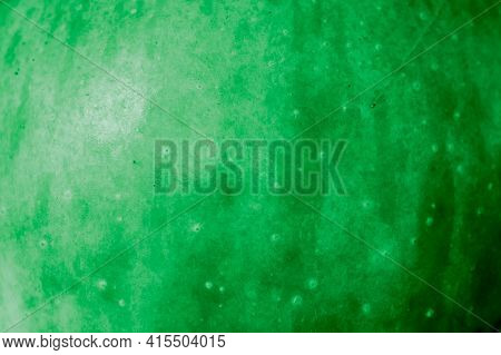 Green Apple Skin With Visible Details. Background