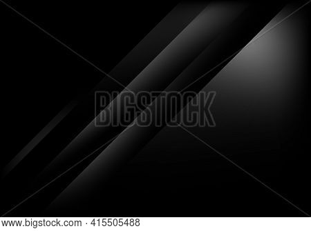 Abstract Shiny Black And Gray Diagonal Stripes Layered With Light Modern Luxury Design On Dark Backg