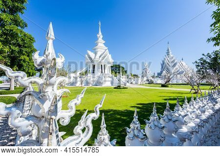 Wat Rong Khun, Aka The White Temple, In Chiang Rai, Thailand.