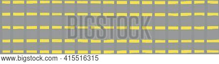 Modern Paint Brush Graph Grid Vector Seamless Border. Ticking Stripe Style Banner With Painterly Ver