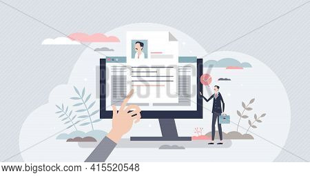 Job Description And Work Duties And Tasks Information Tiny Person Concept