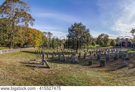 Old Vintage Graveyard In East Hampton, Usa