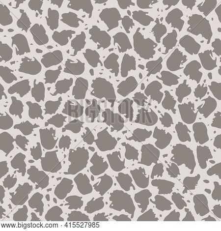 Seamless Pattern With Abstract Spots On A Light Background. Animal Print, Spots, Splashes. It Can Be