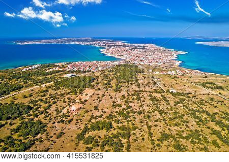 Island Of Vir Archipelago Aerial Panoramic View, Dalmatia Region Of Croatia