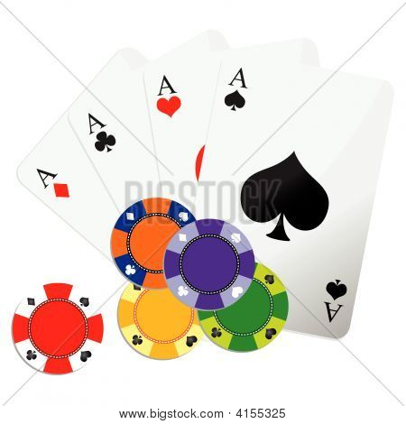 Playing Cards And Game Chips