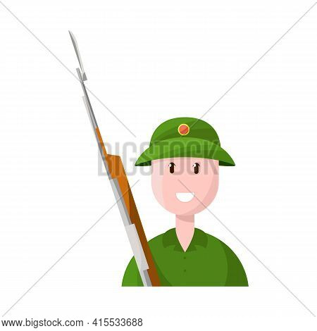 Isolated Object Of Vietnamese And Soldier Sign. Set Of Vietnamese And Man Stock Symbol For Web.