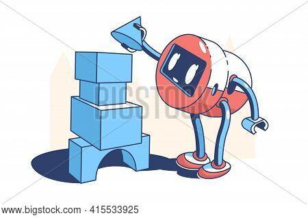 Good Kind Robot Vector Illustration. Robot Keeps