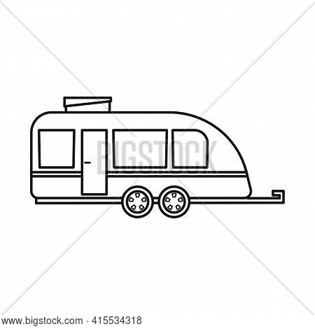 Isolated Object Of Trailer And Camper Symbol. Web Element Of Trailer And Vintage Stock Vector Illust