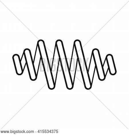 Vector Illustration Of Coil And Metal Icon. Web Element Of Coil And Detail Vector Icon For Stock.
