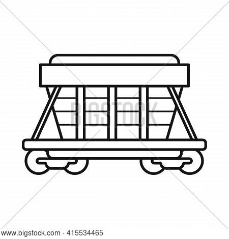 Vector Illustration Of Wagon And Container Sign. Graphic Of Wagon And Boxcar Vector Icon For Stock.