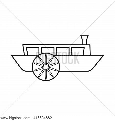 Vector Illustration Of Wagon And Carriage Sign. Web Element Of Wagon And Old Stock Symbol For Web.