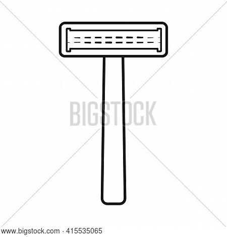Vector Design Of Razor And Hair Sign. Collection Of Razor And Depilation Vector Icon For Stock.