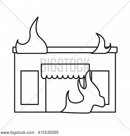 Isolated Object Of Score And Flame Symbol. Set Of Score And Library Vector Icon For Stock.