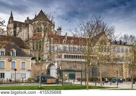 View Of Abbey Of Saint-germain In Auxerre, France
