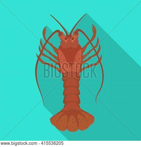 Lobster Vector Icon.flat Vector Icon Isolated On White Background Lobster.
