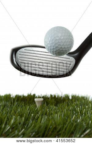 Hitting a golf ball