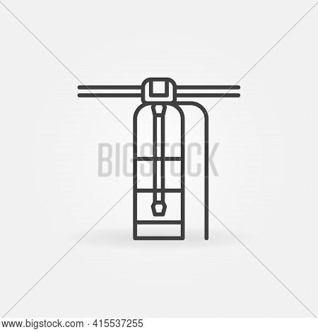 Water Purification System Linear Vector Concept Icon