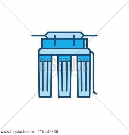 Reverse Osmosis Filter For Water Vector Colored Icon