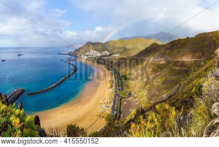 Landscape With Las Teresitas Beach And San Andres Village After Rain, Tenerife, Canary Islands, Spai