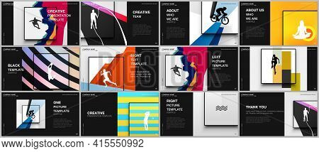 Presentation Design Vector Templates, Multipurpose Template For Presentation Slide, Brochure Cover D