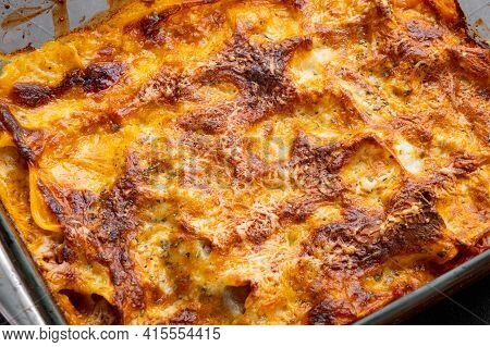 Baked Meat Lasagna Set, In Baking Tray