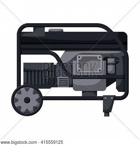 Generator Vector Icon.cartoon Vector Icon Isolated On White Background Generator.