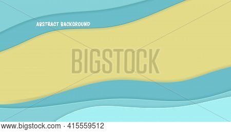 Abstract Papercut Background For Decoration Design. Modern Vector Illustration.