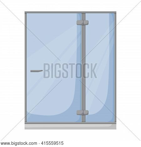 Shower Cabin Vector Icon.cartoon Vector Icon Isolated On White Background Shower Cabin.