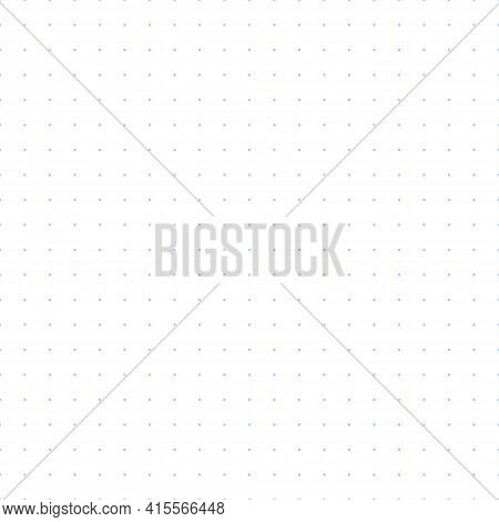 Bullet Journal Texture Seamless Pattern. Blue Dot Grid Graph Paper Template For Notebooks. Simple Do