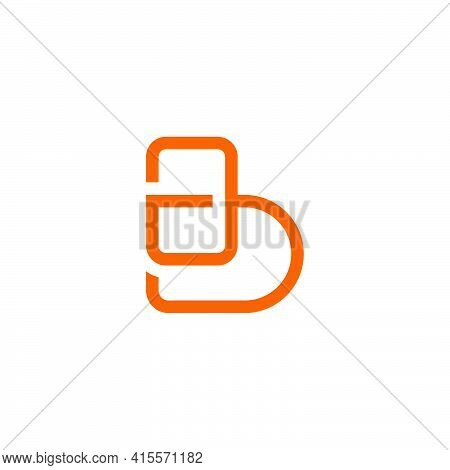 Letter Gb Linked Linear Geometric Simple Brand Identity Vector