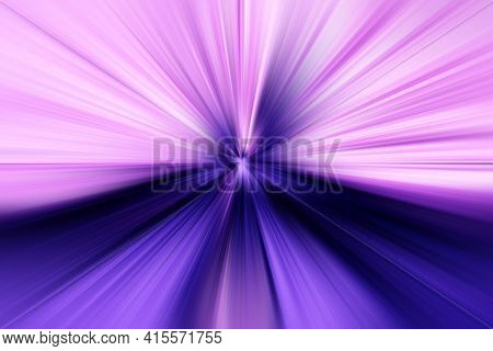 Abstract Surface Of Radial Blur Zoom   In Lilac, Pink Tones. Bright Colorful Background With Radial,
