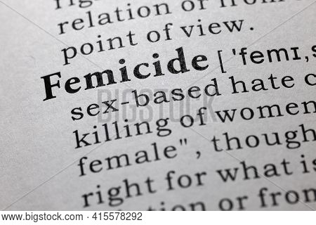 Fake Dictionary Word, Dictionary Definition Of Femicide