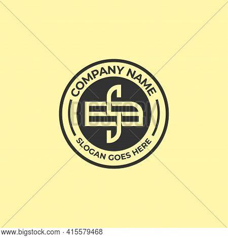 Bs Initial Name Logo Vector Idea, Sb Letter Name Vintage Logo Design Template