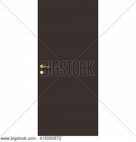 Chicory Coffee Door With Handle And Lock. Interior Door And Front Door.