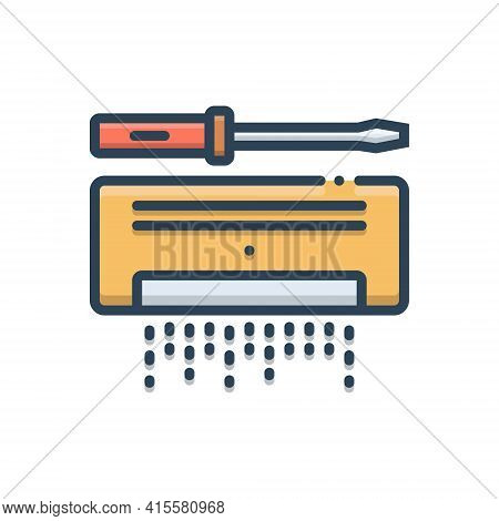 Color Illustration Icon For Ac-service Ac Service Cleaner Repair Safety Maintenance