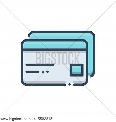 Color Illustration Icon For Atm-cards Atm Cards Payment Transaction Credit Debit
