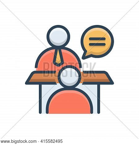Color Illustration Icon For Face-to-face-conversation Face  Conversation Chitchat Gossip Jabber
