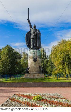 Monument to Ilya Muromets in the city of Murom - Vladimir Region - Russia